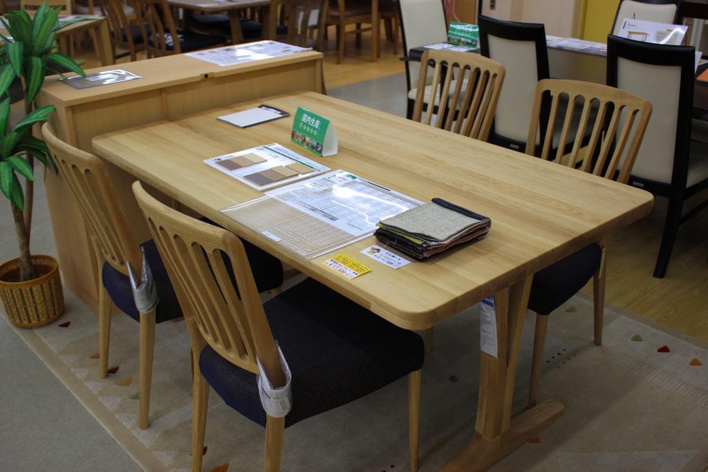 食堂テーブル+椅子(ピュアオーク)